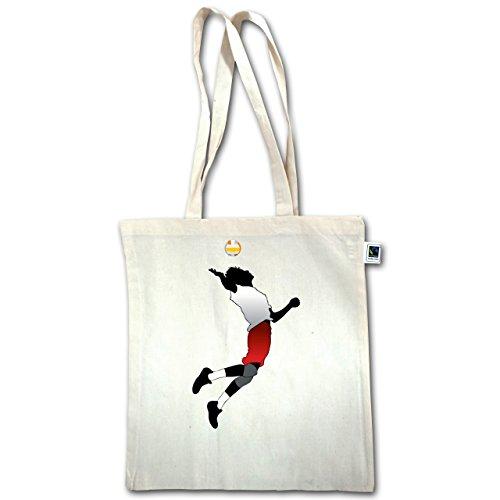 Pallavolo - Giocatore Di Pallavolo Servire - Unisize - Natural - Xt600 - Manici Lunghi In Juta Bag