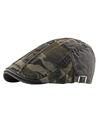 - Zhhlinyuan Top Camo Beret Hat Fashion Unisex Adult Gatsby Newsboy Hunting Cabbie Driving Ivy Cap for Women Men