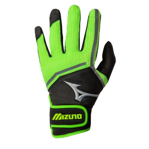 (Mizuno Women's 2016 Finch Batting Gloves (Pair), Black Optic/Sulphur, Medium)