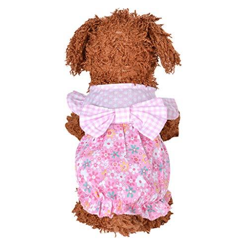 Summer Pet Skirt   Spring Dog Cat Cute Tutu Party Dress   Pet Bowknot Gauzy Skirt Vest   Fashion Printed Dress for Small Pets Bulldog