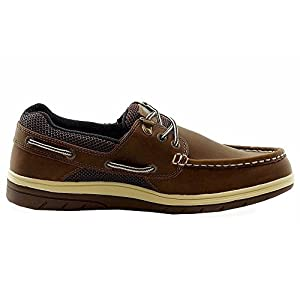 Mens Island Surf Company, Sail Lite Lace up Boat Shoe BROWN 10.5 M