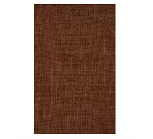 Wool Blend Dalton Rectangular Rug Low Profile Fire Resistant for Fireplace and Home 24 x 42 Spice (Hearth Tufted Hand)