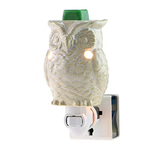 STAR MOON Plug in Wax Melt Warmer for Home Décor, Pluggable Home Fragrance Diffuser, 3D, No Flame, with One More Bulb (Owl of Athena) (American Scented Cup Beauty)