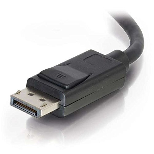 Black Negro Cables displayport C2G 2m DisplayPort Cable with Latches 4K 2 m, DisplayPort, DisplayPort, Macho, Macho, Negro 8K UHD M//M