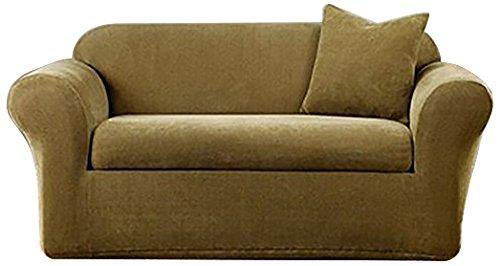 SureFit Stretch Metro 2-Piece - Chair Slipcover - Brown ()