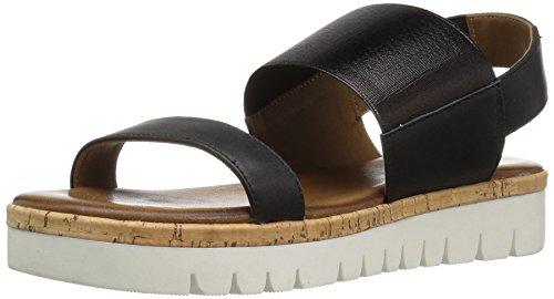 Aldo Women Toni Platform Sandal, Black Leather, 8.5 B US