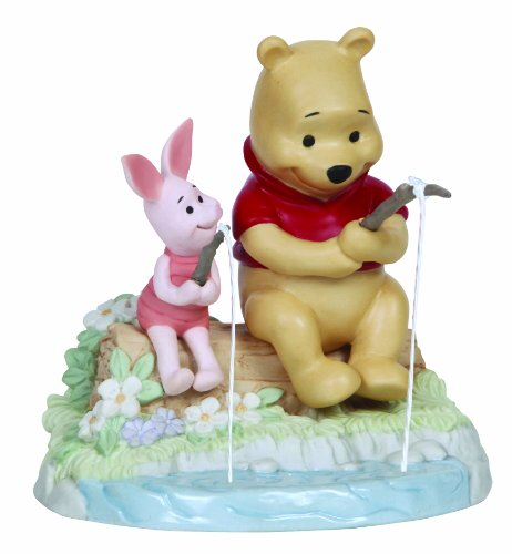Precious Moments, Disney Showcase Collection, I Love Catching Up With You, Bisque Porcelain Figurine, 134702