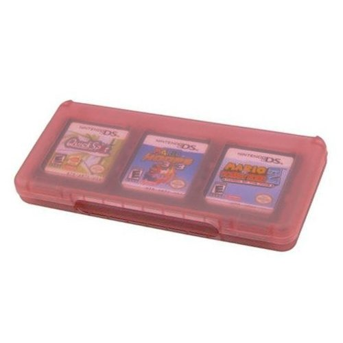 Assecure pink 6 game card holder for Nintendo 3DS, DS, DS lite, DSi & DSi XL storage box 6 in 1 ()