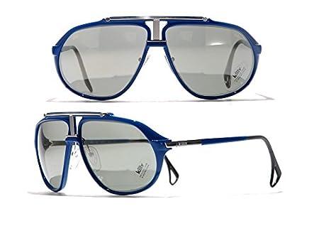 f11e70d2094fc3 Killy / Cartier 469 carbon Blue Ultra Rare Luxury Vintage Aviator Sunglasses  (blue): Amazon.co.uk: Sports & Outdoors