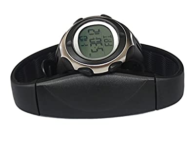 Toprime® Fitness Tracker Watch Chest Belt Heart Rate Monitor Fashion Sports,Black