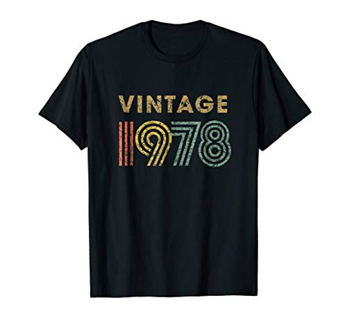 Vintage T-shirt Born in 1978 Retro 40th Birthday -
