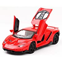 US1984 Die-Cast 4 Wheel Drive Metal Car Pull Back with 3 Openable Doors, Engine Cover, Tail with Front and Rear Light & Music Great Gift for Boys and Girls Above 4 Years Best Gift (Red)