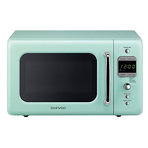 Daewoo KOR-7LREM Retro Countertop Microwave Oven 0.7 Cu. Ft, 700W | Mint Green