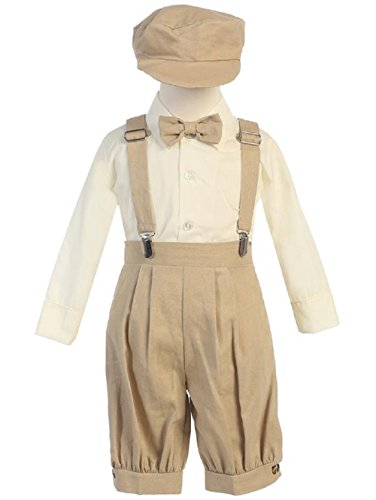 Lito Infant Toddler Boys Suspender Knickers with Long Sleeve Shirt (Boys Knicker)