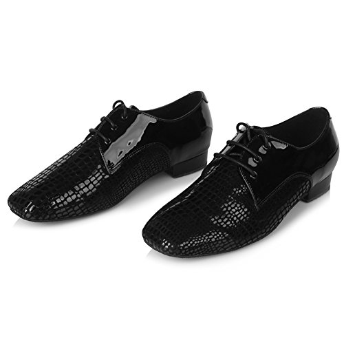 Dance Latin Black Professional Roymall Shoes Jazz 4 Shoes Performance Ballroom Men's Tango Waltz RnU141t