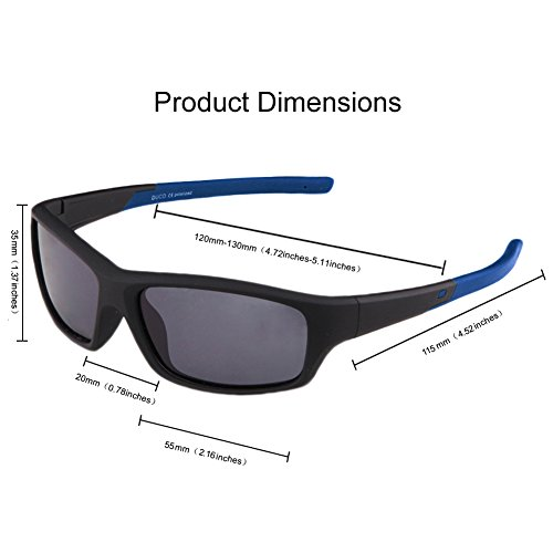 bbca8784af7 DUCO Kids Sports Style Polarized Sunglasses Flexible Frame For Boys ...