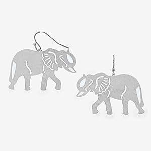 Elephant Stencil Trunk Up Amazon.com: Women Fash...