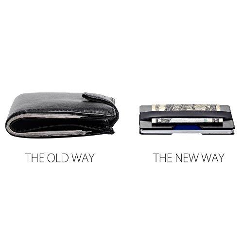 ROCO Minimalist Aluminum Slim Wallet RFID BLOCKING Money Clip - No.2 (Black) by Roco (Image #5)