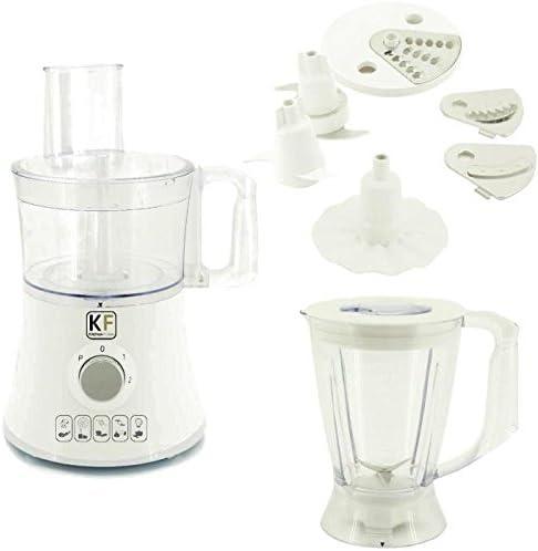 Robot de cocina Multi funciones Mixer Blender amasador picadora rallador blanco: Amazon.es: Hogar