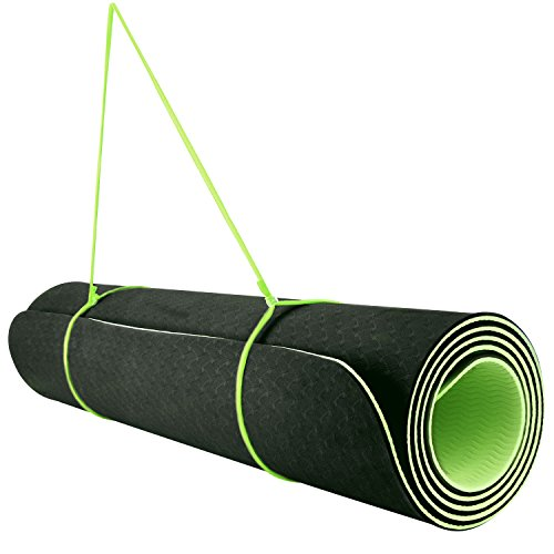 REEHUT 1/4-Inch High Density TPE Exercise Yoga Mat for Pilat