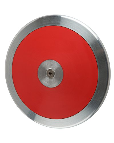 Optama Red Track & Field 1 kg girl's discus, best-selling 1k beginning/intermediate discus that is IAAF, NCAA & NHS certified for all levels of competition, comes with 1 year warranty. by FIRESTEED SPORTS