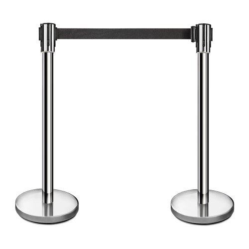 New Star Foodservice 54606 Stainless Steel Stanchions, 36