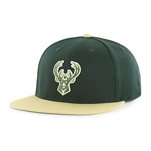 fan products of NBA Milwaukee Bucks Gallant OTS Varsity Snapback Adjustable Hat, Dark Green, One Size