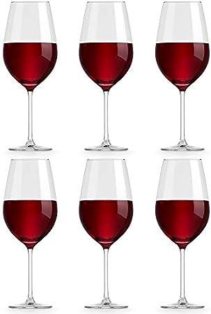 Copa de Vino Atna de Libbey - 65 cl / 650 ml - 6 Unidades - Diseño Clásico - Apta para el Lavavajillas