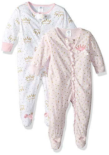 Gerber Baby Girls' 2-Pack Sleep 'N Play, Princess Crown, Newborn