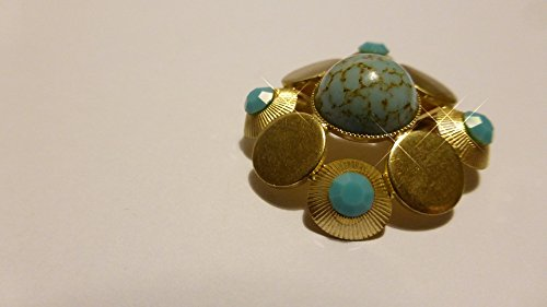 Home Comforts Framed Art for Your Wall Jewellery Gold Brooch Turquoise Fashion Jewelry 10x13 Frame