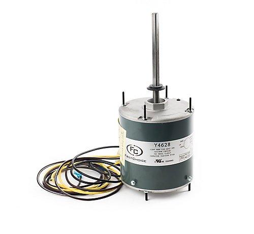 Lennox Y4628, FirstChoice WG840738HT-EW Condenser Fan Motor, 1/2HP, 1075 RPM, 1 Speed, 2.3FLA, 460V, 60Hz, 70C Ambient
