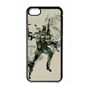 Personalize Designer Lightweight Printed Hard Plastic case Snap-on cover for iphone 5C with Tactics Game Metal Gear Solid -6162