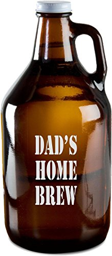 classic amber beer growler - 4