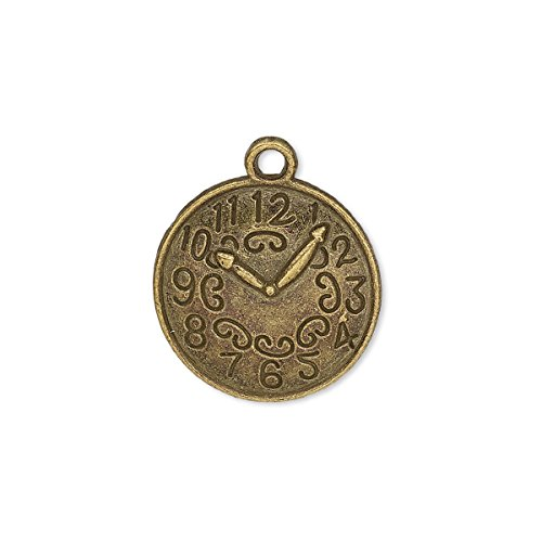 - Charm antique brass-plated