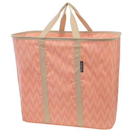 CleverMade Collapsible Laundry Tote, Large Foldable Clothes Hamper Bag,...