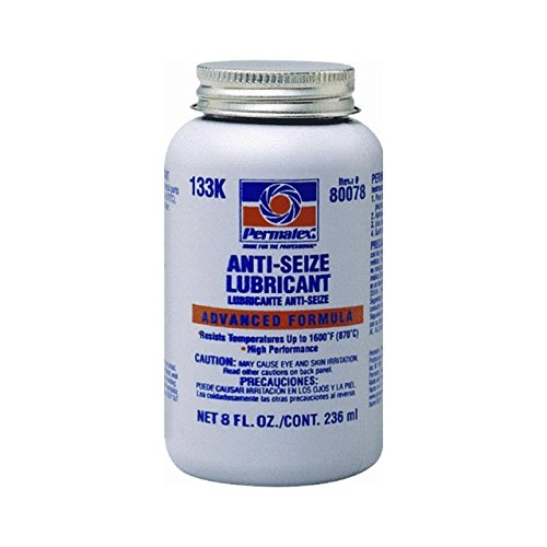 Permatex 80078 Anti-Seize Lubricant with Brush Top Bottle, 8 oz, Pack of - Lube Anti Seize