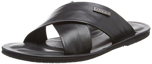 Dune Men's Izzard Flip Flops Black (Black Leather) WX36gRvgu