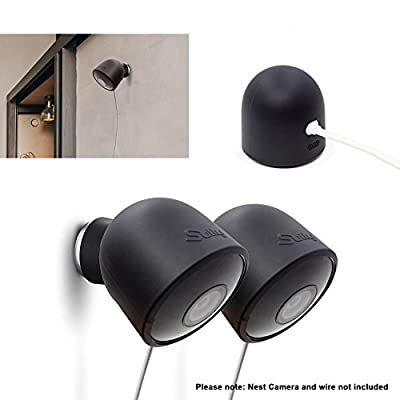 Silicone Skins for Nest Cam Outdoor Security Camera - (2pcs) NestCam Silikon Video Camera Covers Case Accessories For MAIN-41495 and NC2400ES UV Light Weather resistant Perfect Fitting By Sully
