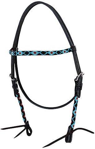 Circle Y Multi-Tone Bead Inlay Browband Headstall