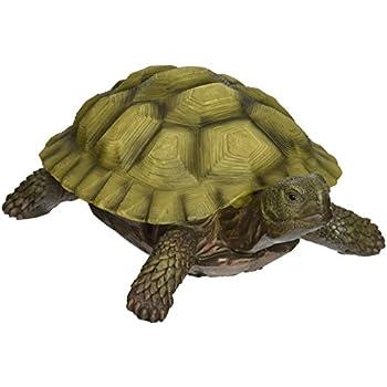 Design Toscano Gilbert the Box Turtle Statue, Multicolored