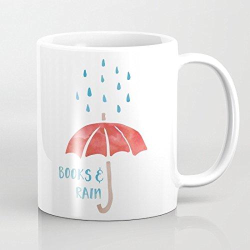 Qemingyer Libros y Tazas de Lluvia Paraguas único Marido ...
