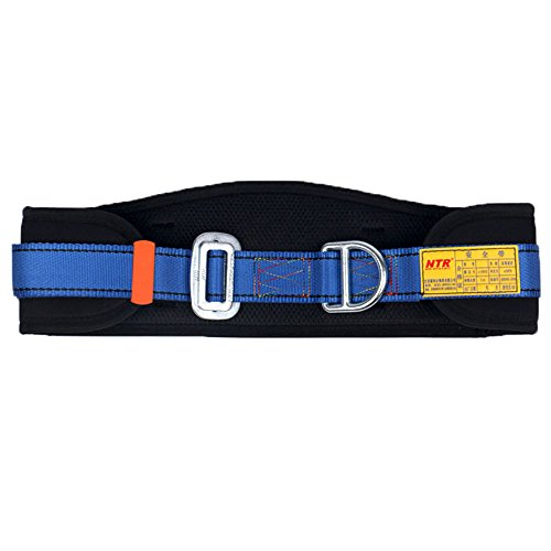 (WILDKEN Body Belt with Waist Pad and Side D-Rings, Personal Protective Equipment Safety Climbing Harness (Blue))