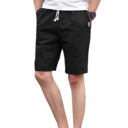newest c515a 36d7b durable modeling ARRIVE GUIDE Men s Tie Side Slim Solid Casual Crimping  Flat Front Short