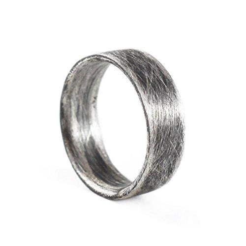 Amazon Com Mens Wedding Band Sterling Silver Ring Mens Wedding Ring