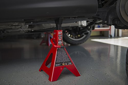 Torin Big Red Steel Jack Stands: Double Locking, 6 Ton Capacity, 1 Pair by Torin (Image #12)