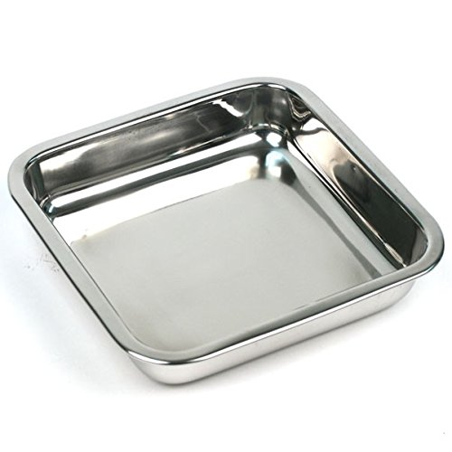 Happy Sales HSSSP-SQ1, 8 Inch Stainless Steel Cake Pan, Square