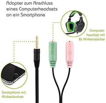 Klinke Stereo Audio Stecker Adapter 3 pins für zB Kopfhörer Lautsprecher Mikro