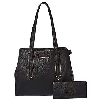 Yuejin Shopper Bag and Wallet Set for Women - Black