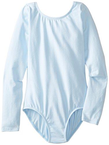 Little Girls O Neck Long Sleeve Leotard One Piece Top Bodysuit Dancewear Costumes