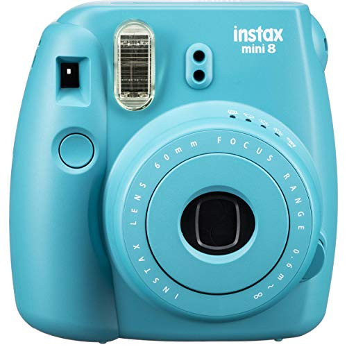 Fujifilm INSTAX Mini 8 Instant Camera,Teal Blue (Renewed)